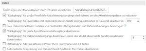 Screenshot zeigt Abschnitt Daten in den Excel-Optionen