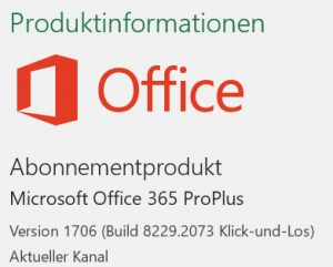 Update-Kanal in Office365 - Excel 2016 Schulung PowerBI