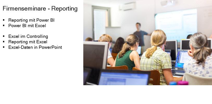 Inhouse-Training für Excel im Controlling, Reporting und Power BI